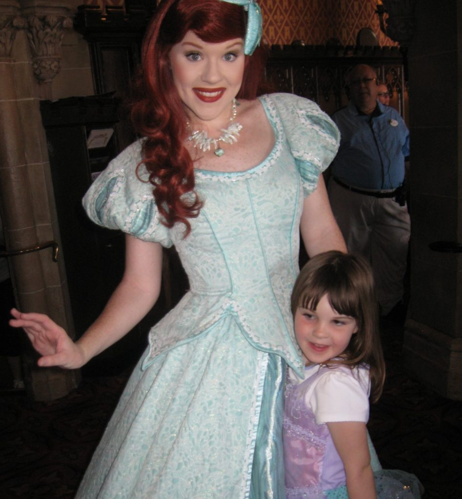Izzy with her favorite princess, Ariel
