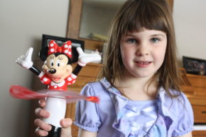"The Minnie Mouse ""spinner"" that lights up and spins. It probably cost $20 at Disney World."