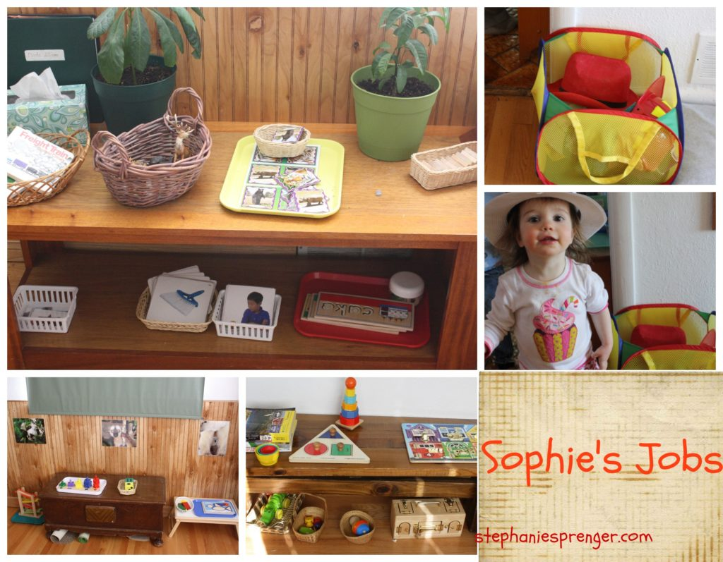 """The Montessori philosophy uses the term """"jobs"""" or """"work"""" to describe the children's choices for activities."""