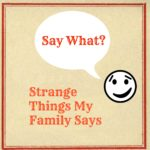 Say What? Strange Things Heard Around My House