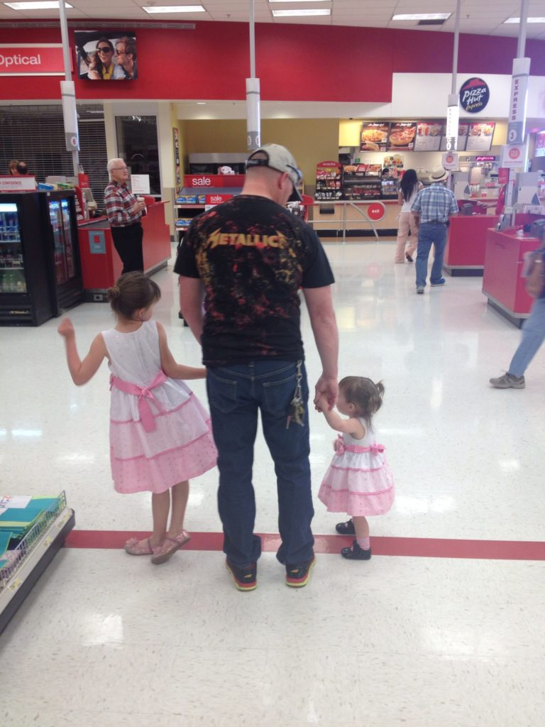 Metallica Daddy and his two girly-girls