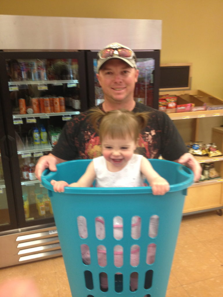 What's cuter than a baby in a basket? Seriously.