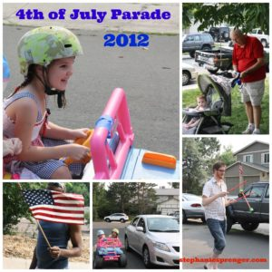 Our own version of my beloved 4th of July neighborhood parades.