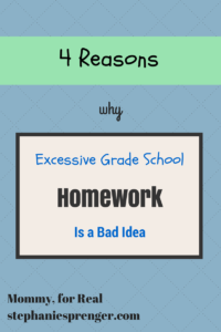 Why Homework in Elementary School is a Bad Idea