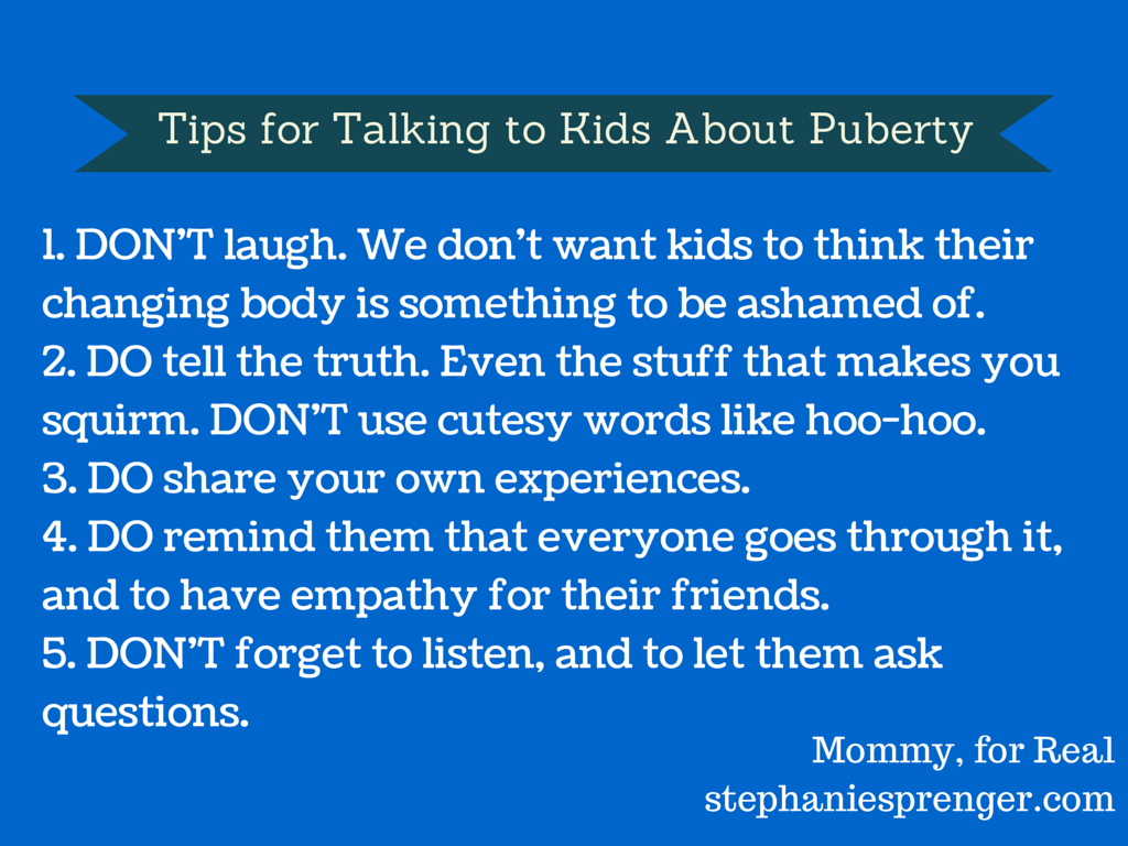 Tips for Talking to Kids About Puberty
