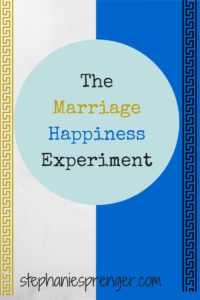 The Marriage Happiness Experiment