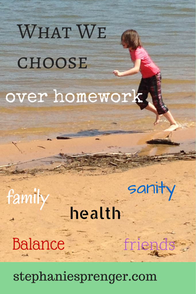 Do we put too much pressure on our kids? Find out why we sometimes say NO to homework.