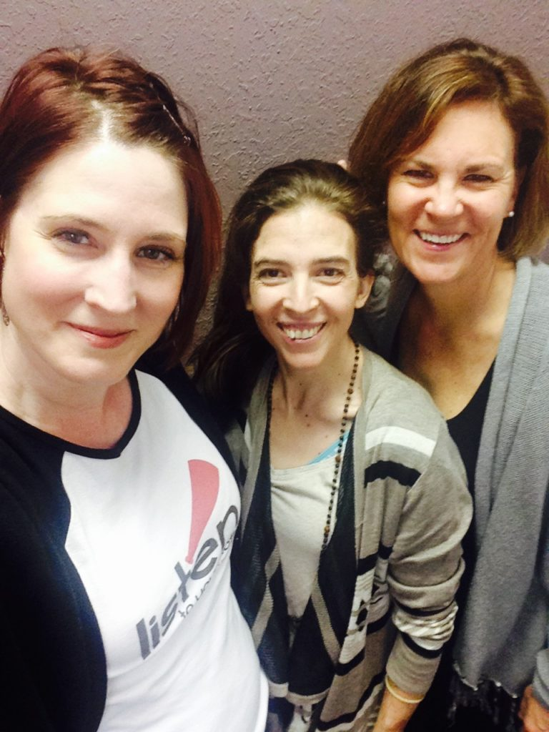Our LTYM production team, all fresh-faced on Audition Day One!