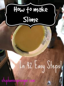How to Make Homemade Slime With Your Kid in 42 Easy Steps